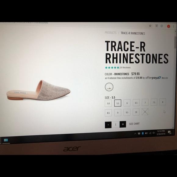 fbe906b24f4 Steve Madden Pointed Toe Rhinestone Mules Size 6M